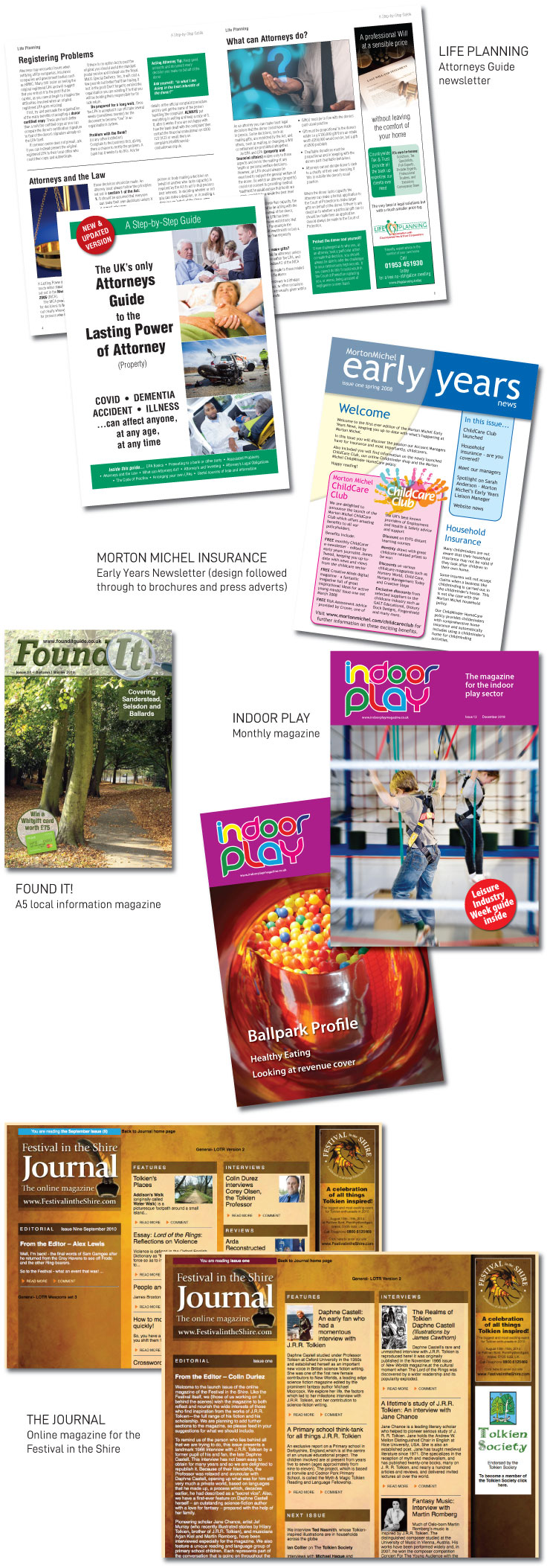 Magazine design and production examples