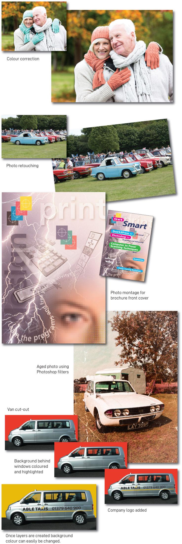 Adobe Photoshop retouching colour correction examples
