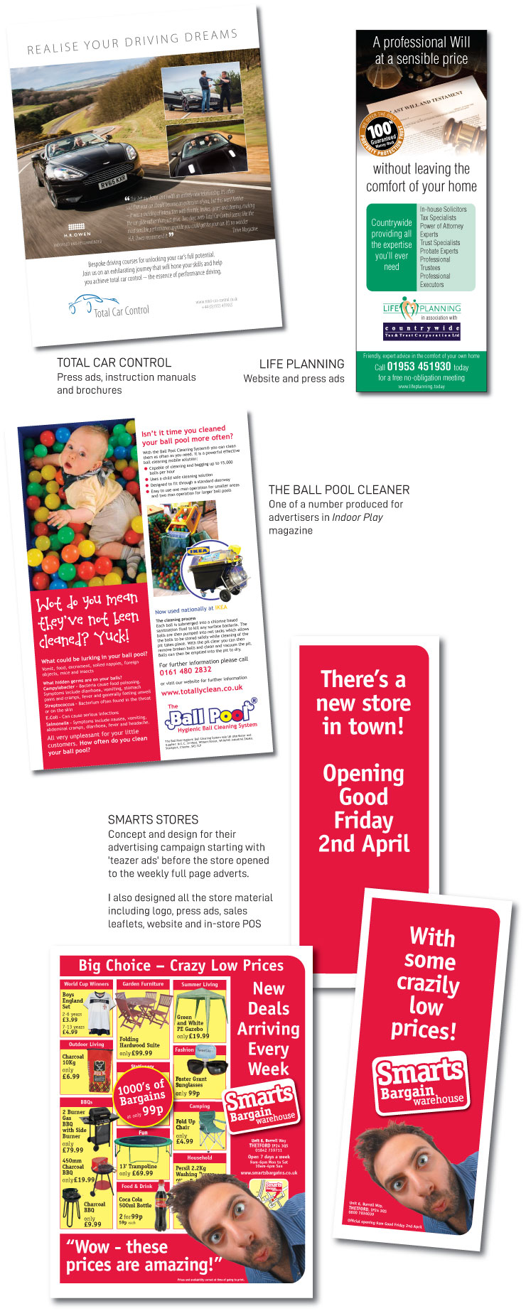 Press adverts and campaign examples