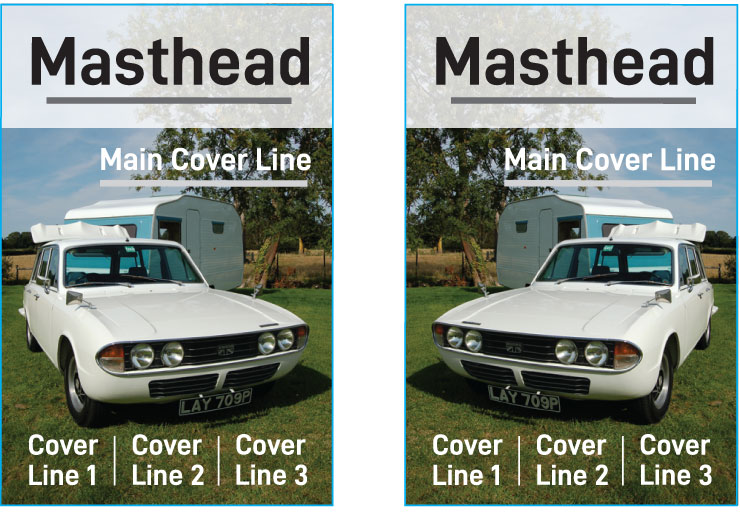 Cover examples left and right
