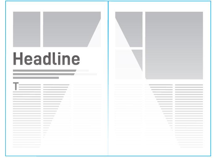 Magazine design - the visible area
