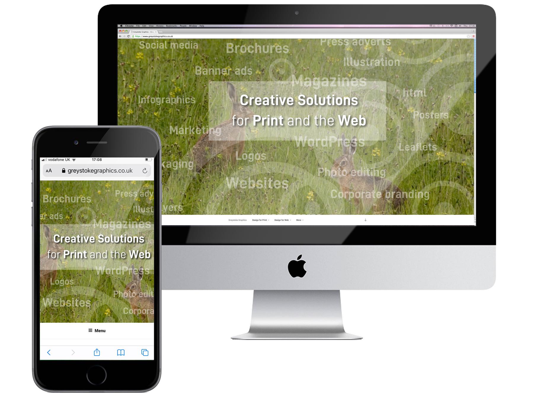 iMac and iPhone screens